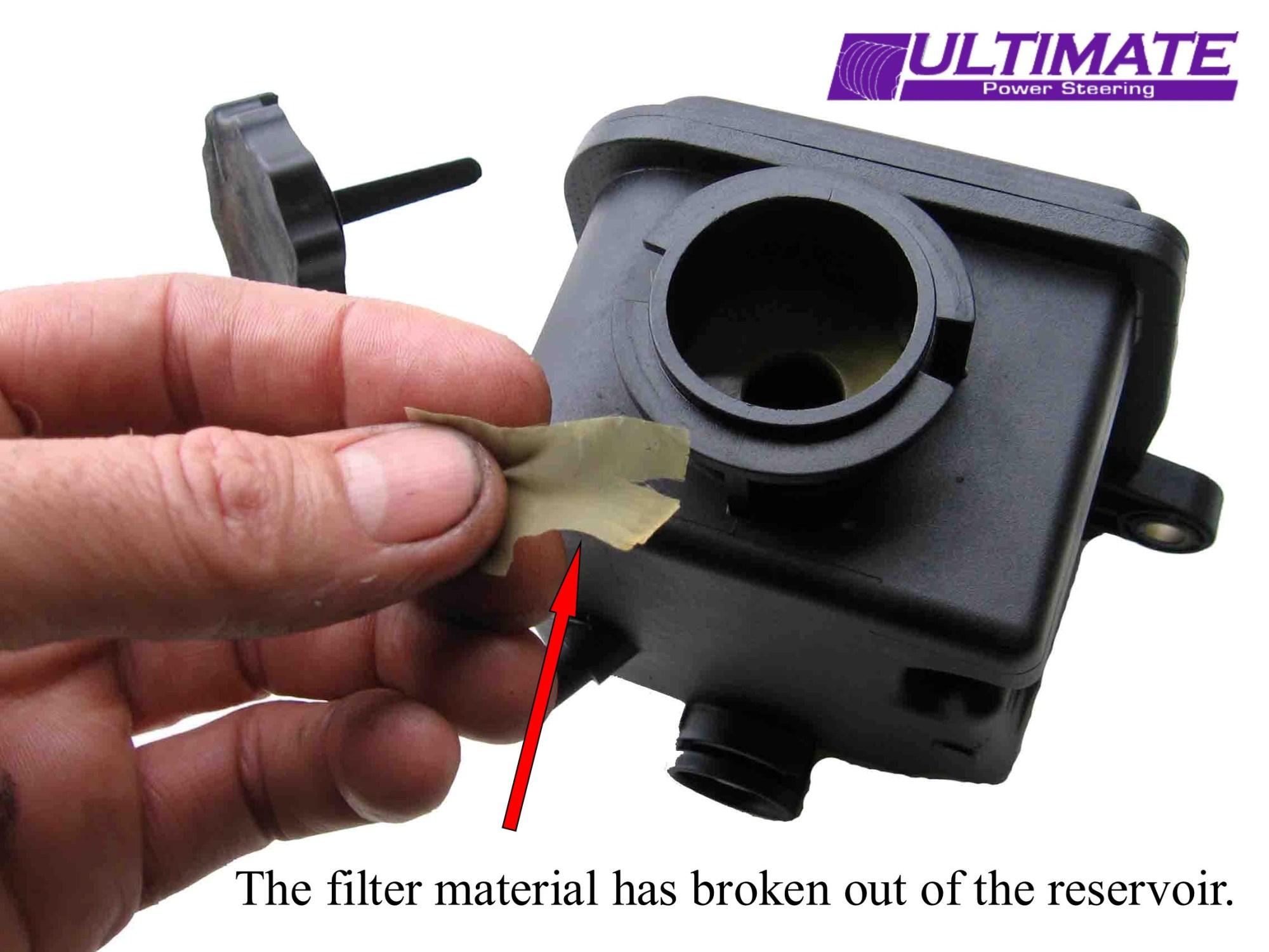 hight resolution of mercedes ml 320 power steering pump reservoir damaged
