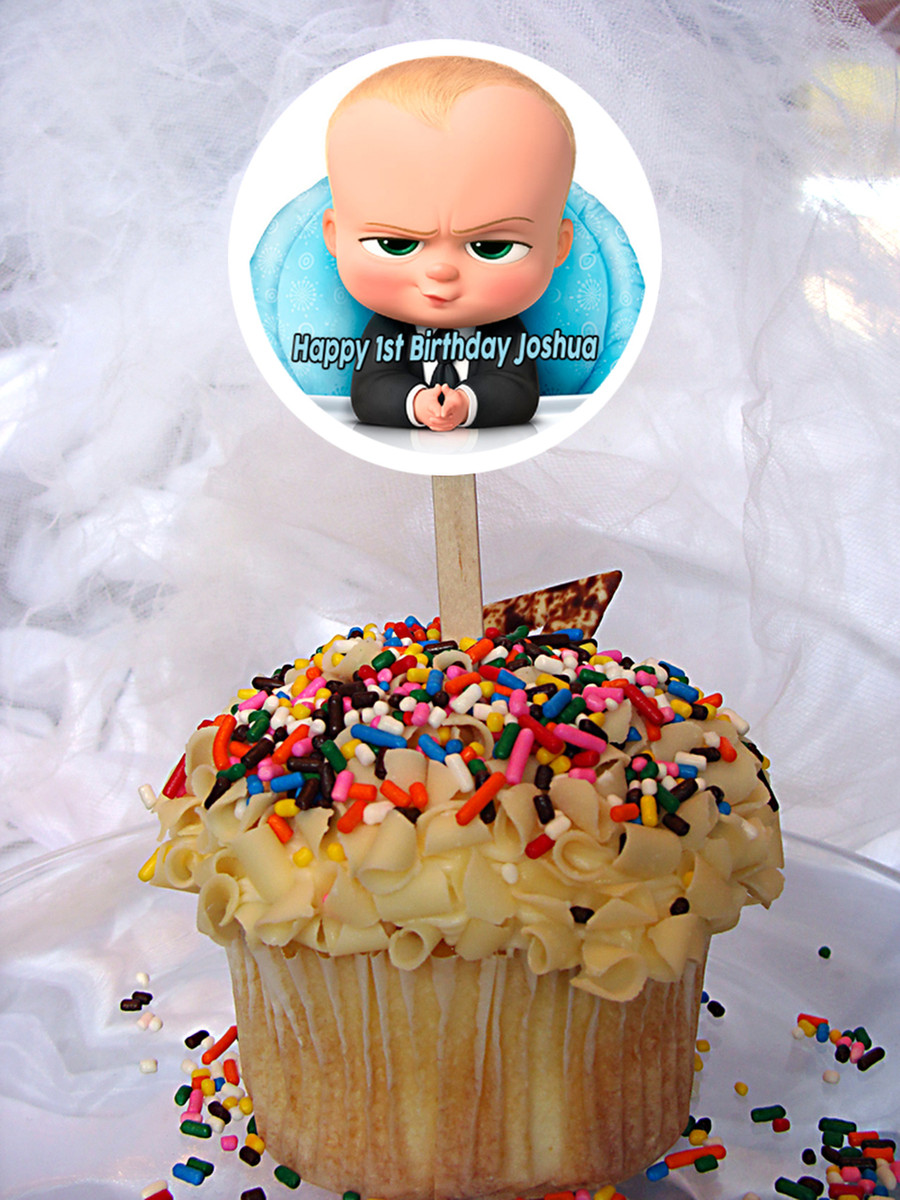The Boss Baby Personalized Cupcake Toppers