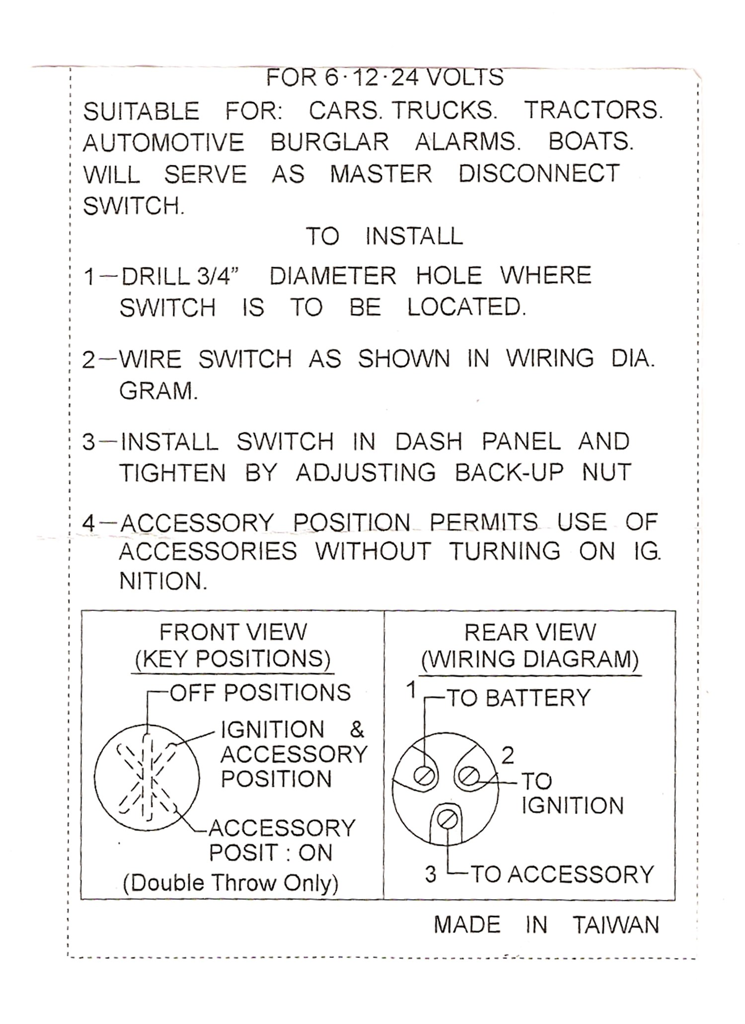 emgo universal ignition switch 3 position 40 64000 wiring diagram universal ignition switch wiring universal ignition switch wiring [ 1500 x 2060 Pixel ]