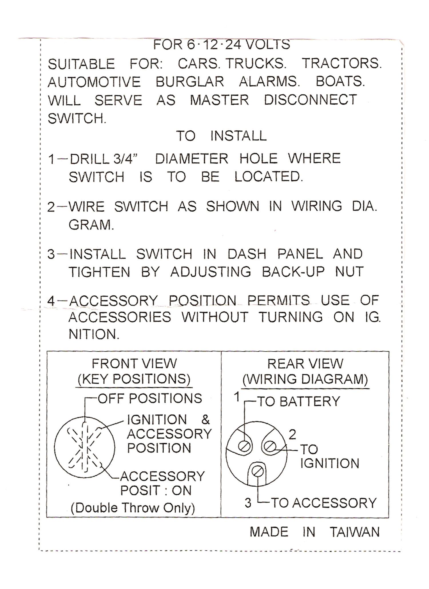small resolution of emgo universal ignition switch 3 position 40 64000 wiring diagram universal ignition switch wiring universal ignition switch wiring