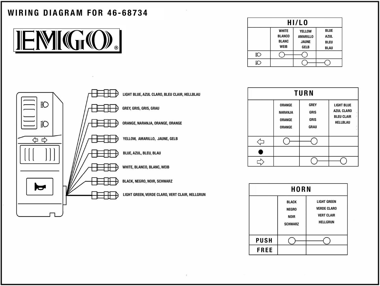 Emgo Universal Handlebar Multi Switch  Left  4668734