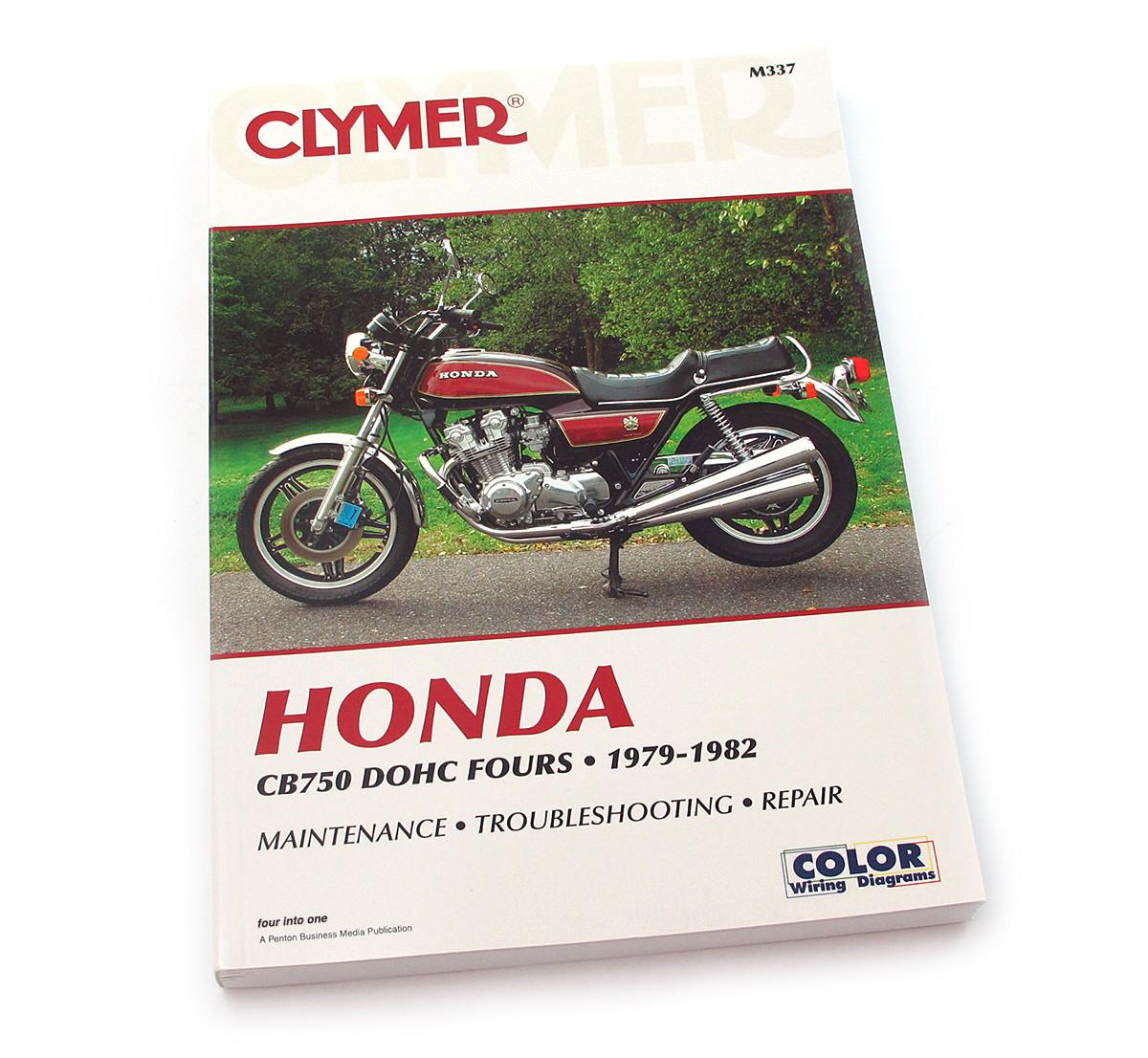 hight resolution of clymer manual honda cb750 dohc fours 1979 1982