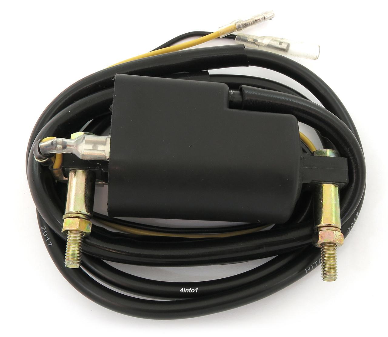 medium resolution of suzuki kawasaki universal 4 ohm dual output ignition coil 12 volt suzuki samurai ignition coil wiring suzuki coil wiring
