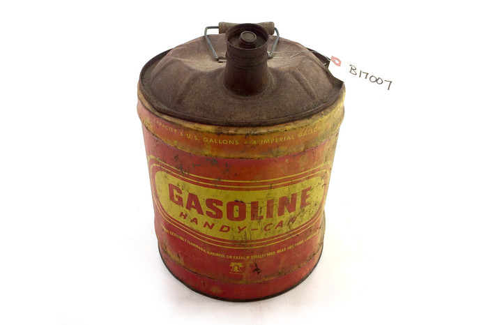 Antique Metal HandyCan 5 Gallon Gas Can  StoriedBoards