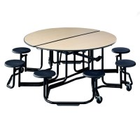 cafeteria tables, mobile, folding, convertible, stool ...