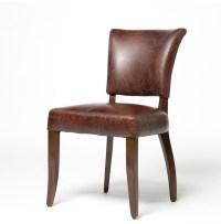 Mimi Biker Tan Leather Dining Chair | Zin Home