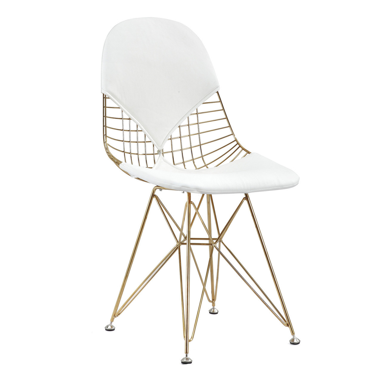white wire chair bubble stand only gold 43 leather m245 modern zin home