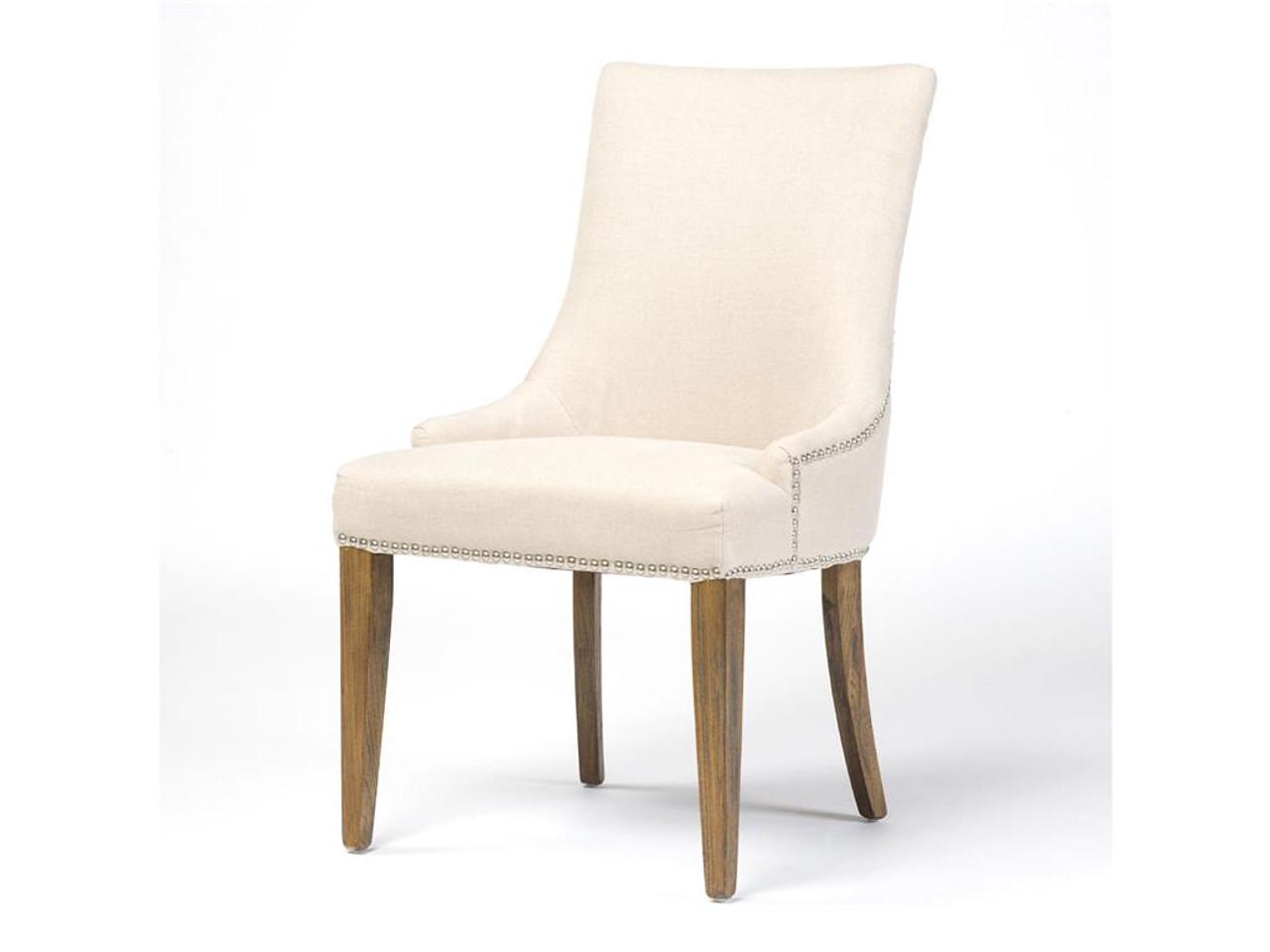 nailhead upholstered dining chair living room chairs walmart ashford linen zin home