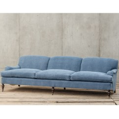 English Roll Arm Sofa Furniture Throws Blankets For Sofas Professor Plum 39s Blue Linen Upholstered