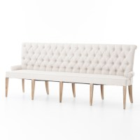French Tufted Upholstered Dining Bench Banquette | Zin Home