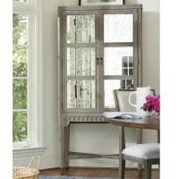 Playlist Vintage Grey Oak Antique Mirrored Bar Cabinet ...