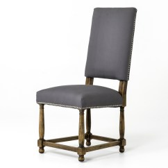 Dining Chair Covers In Spanish Pull Out Sleeper Grey Cotton Upholstered High Back