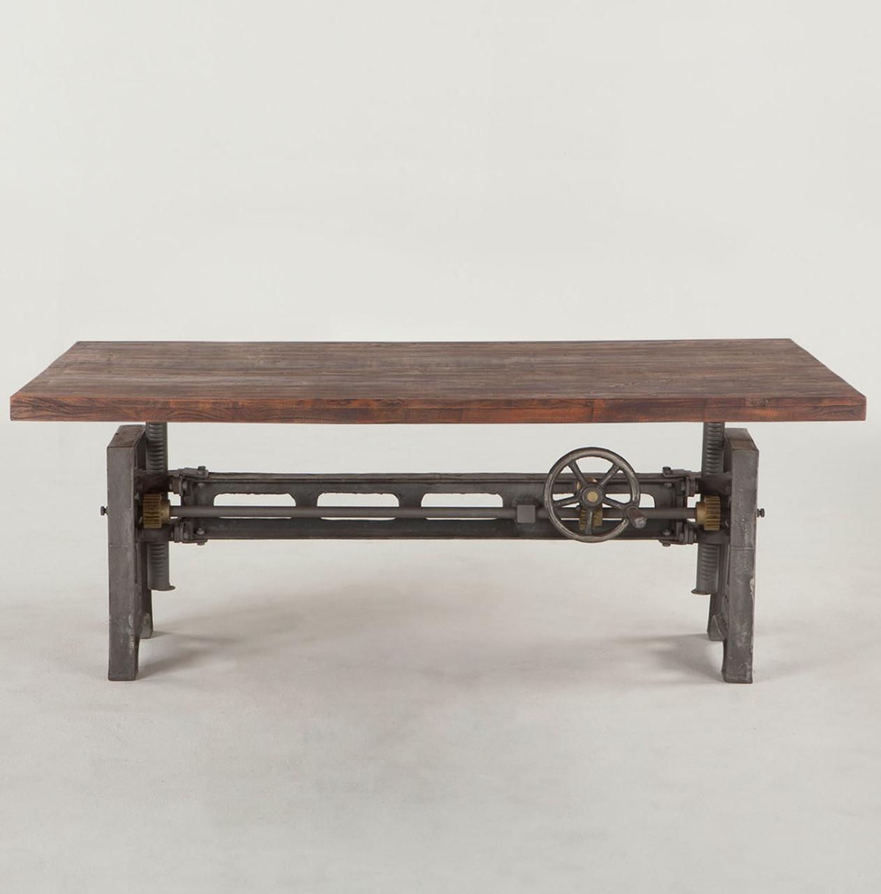 "Steampunk Industrial Adjustable Coffee Table 53"""