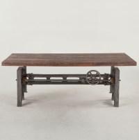 "Steampunk Industrial Adjustable Coffee Table 53"" | Zin Home"