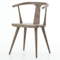 Windsor Dining Arm Chair - Grey Oak | Zin Home