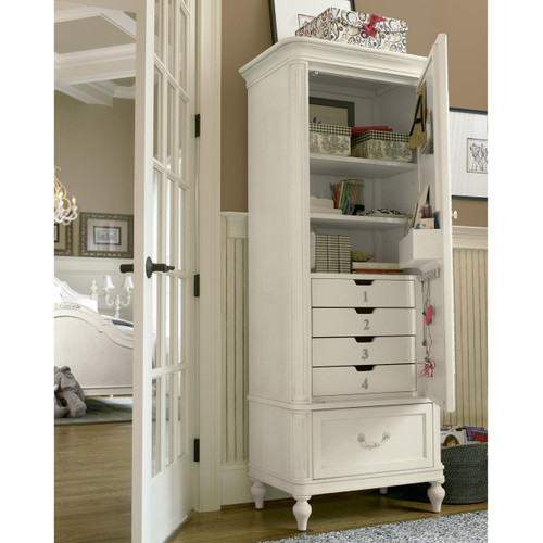 Rosalie Kids Bedroom Armoire White Zin Home