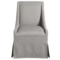 Townsend Modern Grey Upholstered Skirted Dining Chair ...