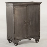 Bethlehem Steampunk Industrial Wine Bar Cabinet | Zin Home