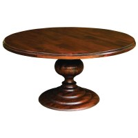 "60"" Round Pedestal Dining Table-Cocoa 