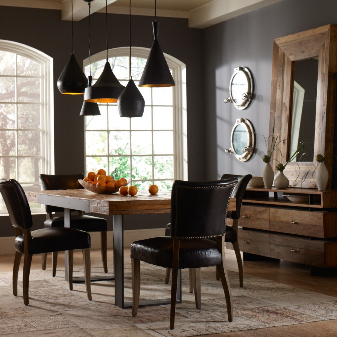 Black Leather Dining Room Chairs Mimi Saddle Black Leather Dining Chair Zin Home