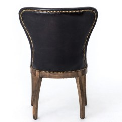 Padded Beach Chair Folding Kijiji Mississauga Richmond Black Leather Wingback Dining With Weathered Oak Frame   Zin Home