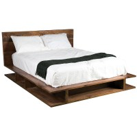 Bonnie Queen Platform Bed | Rustic Reclaimed Wood Bed ...