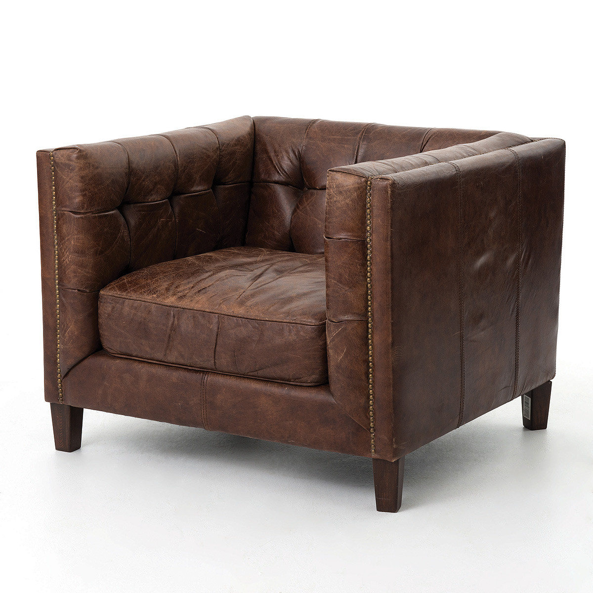 tufted club sofa and chaise lounge set abbott vintage cigar leather chair zin home