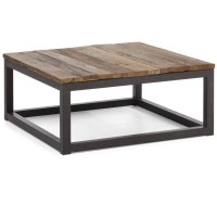 Civic Wood and Metal Square Coffee Table | Zin Home