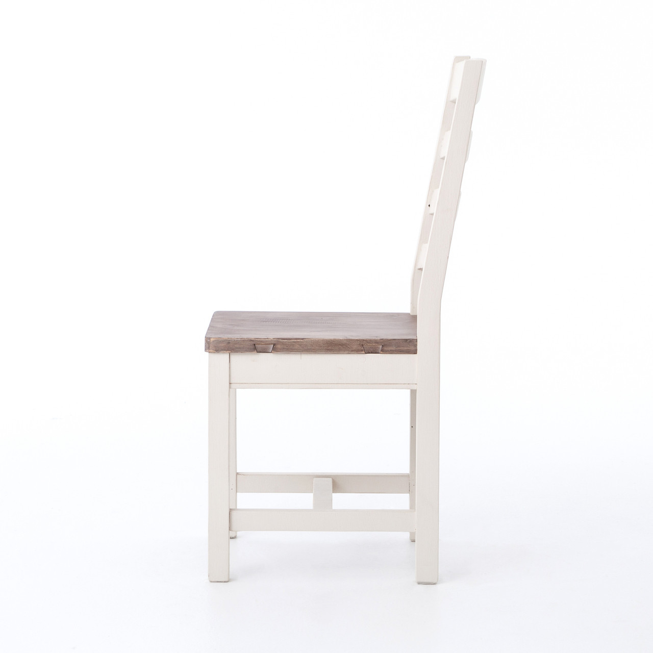 White Ladder Back Chair Coastal Cottage Ladder Back Dining Chair White Zin Home