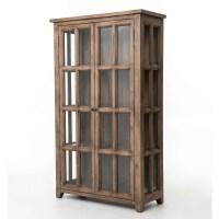 Coastal Solid Reclaimed Wood Display Storage Cabinet | Zin ...