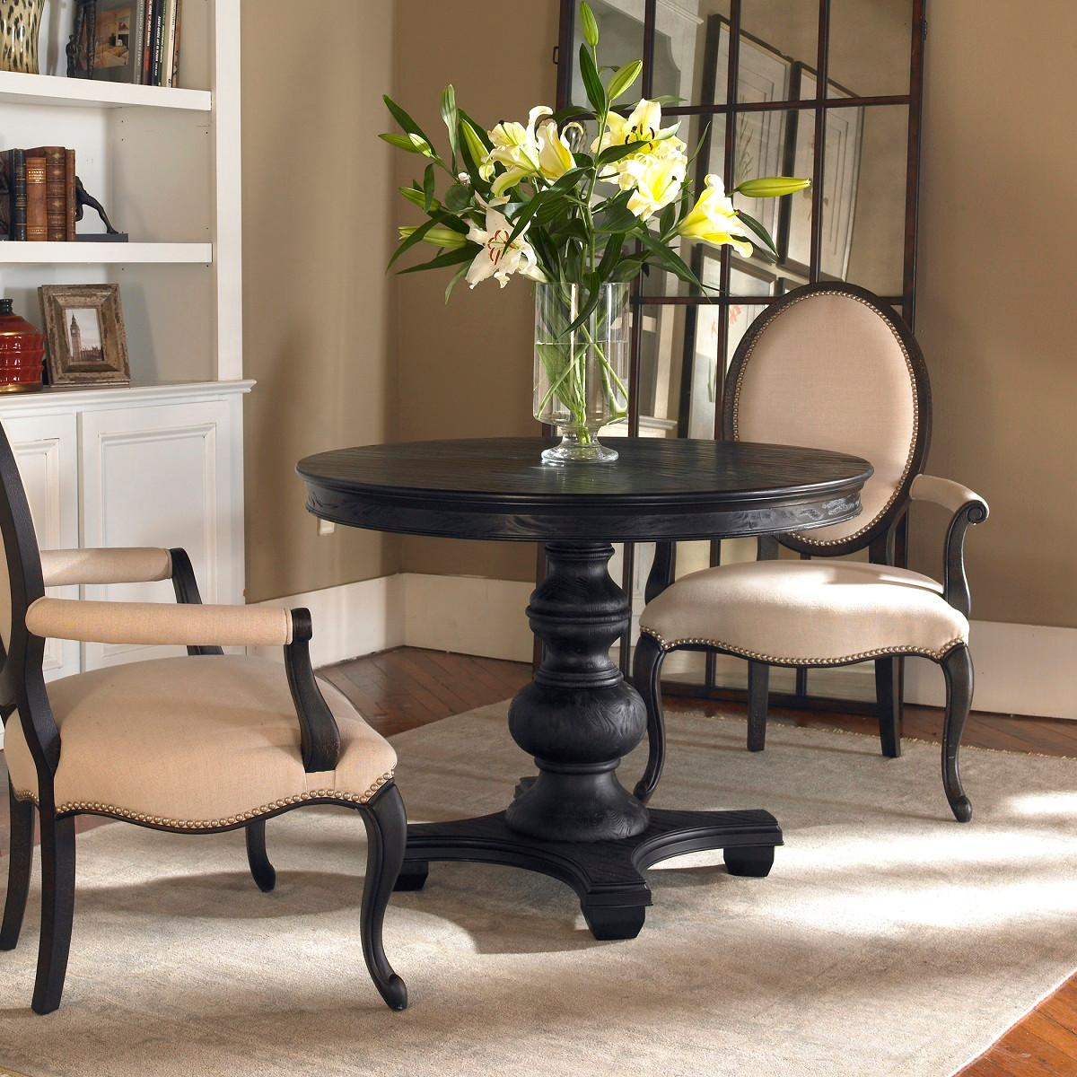 "Brynmore Black Round Pedestal Table 42"" Zin Home"