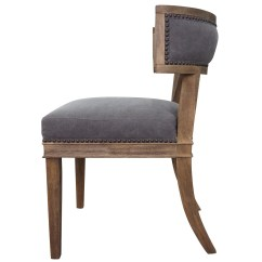 Nailhead Upholstered Dining Chair Ergonomic Seat Cushion Carter Curved Zin Home
