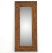 Farmhouse Rustic Reclaimed Wood Large Floor Mirror | Zin Home