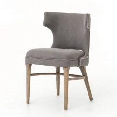 Nailhead Upholstered Dining Chair Swing Egg Uk Task Dark Gray Wing Zin Home