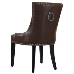 Black Tufted Dining Chair Portable Folding Chairs For Elderly Uptown Antique Brown Leather Zin Home