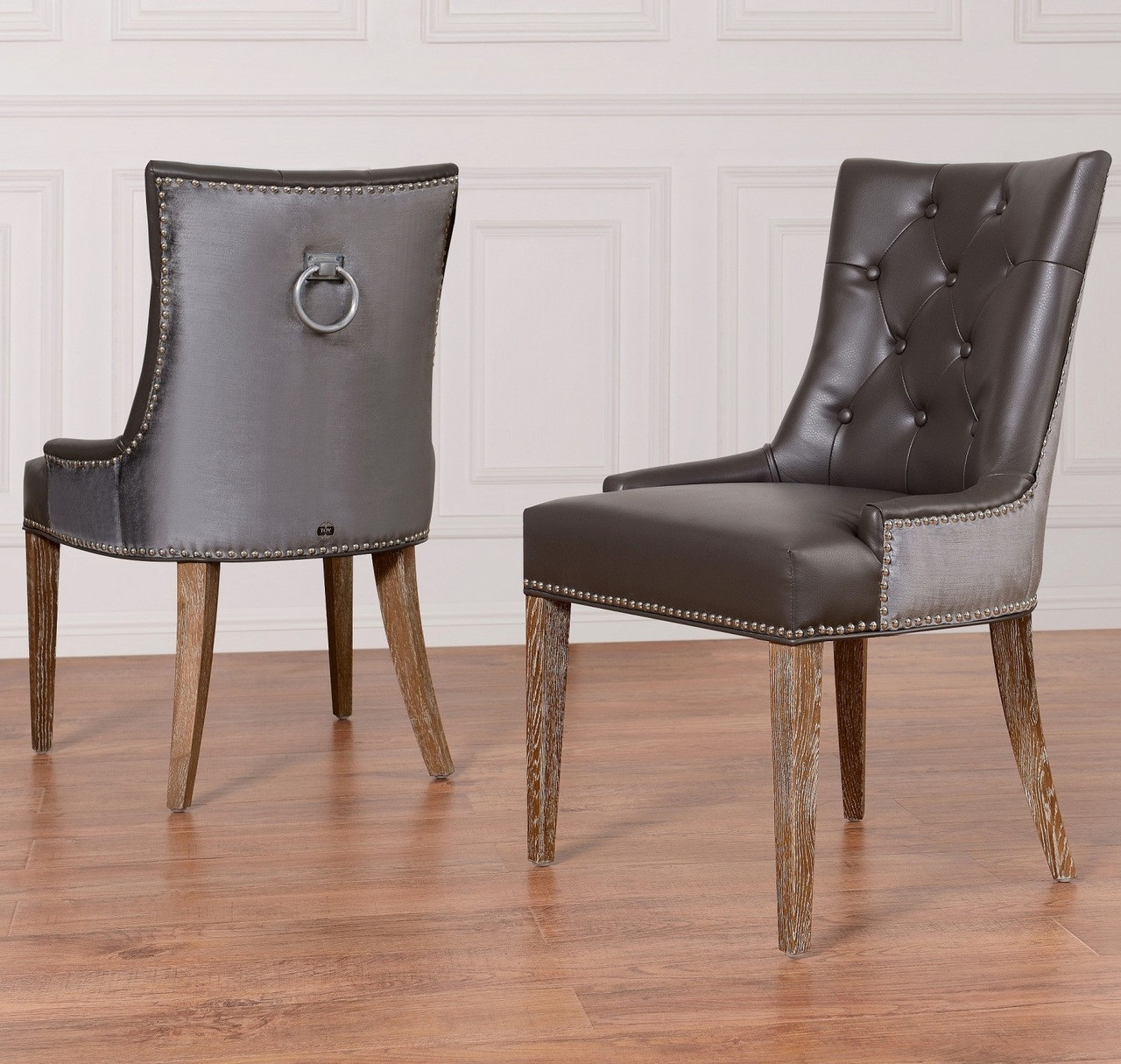 Navy Dining Room Chairs Uptown Navy Velvet 43 Leather Dining Side Chair Zin Home
