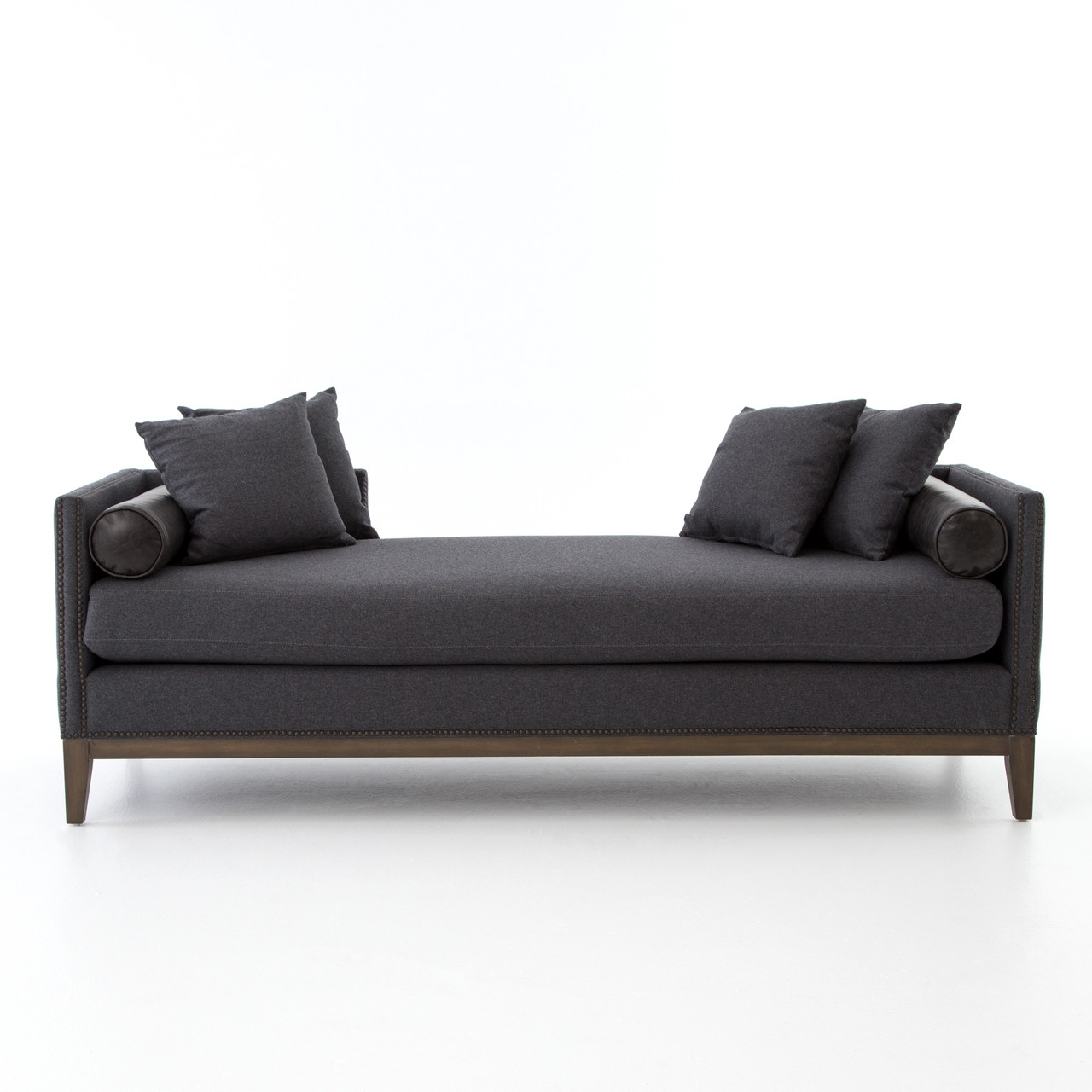 kensington chaise sofa bed stanford dark teal charcoal upholstered double daybed zin