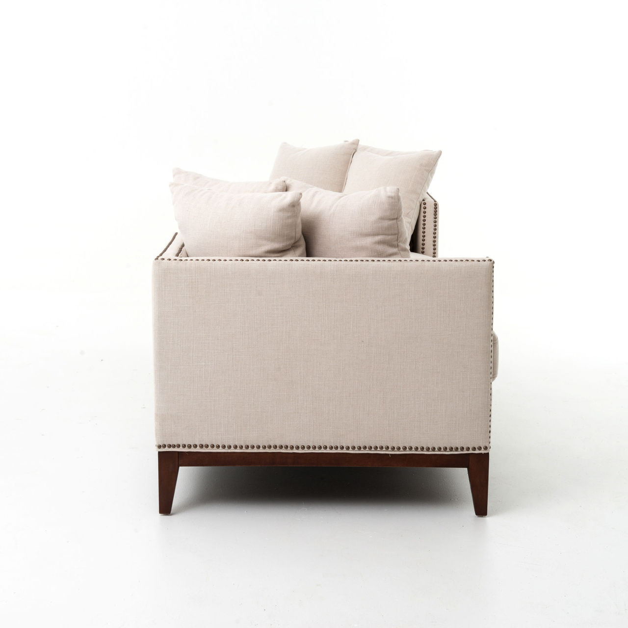 kensington chaise sofa bed gray color beige linen upholstered double daybed