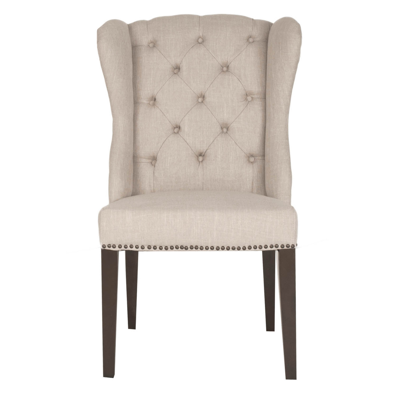 Wingback Dining Chairs Maison Tufted Wingback Hostess Dining Chair Zin Home