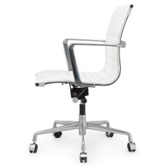 White Leather Modern Office Chair Stool Crossword Italian M346 Chairs Zin Home