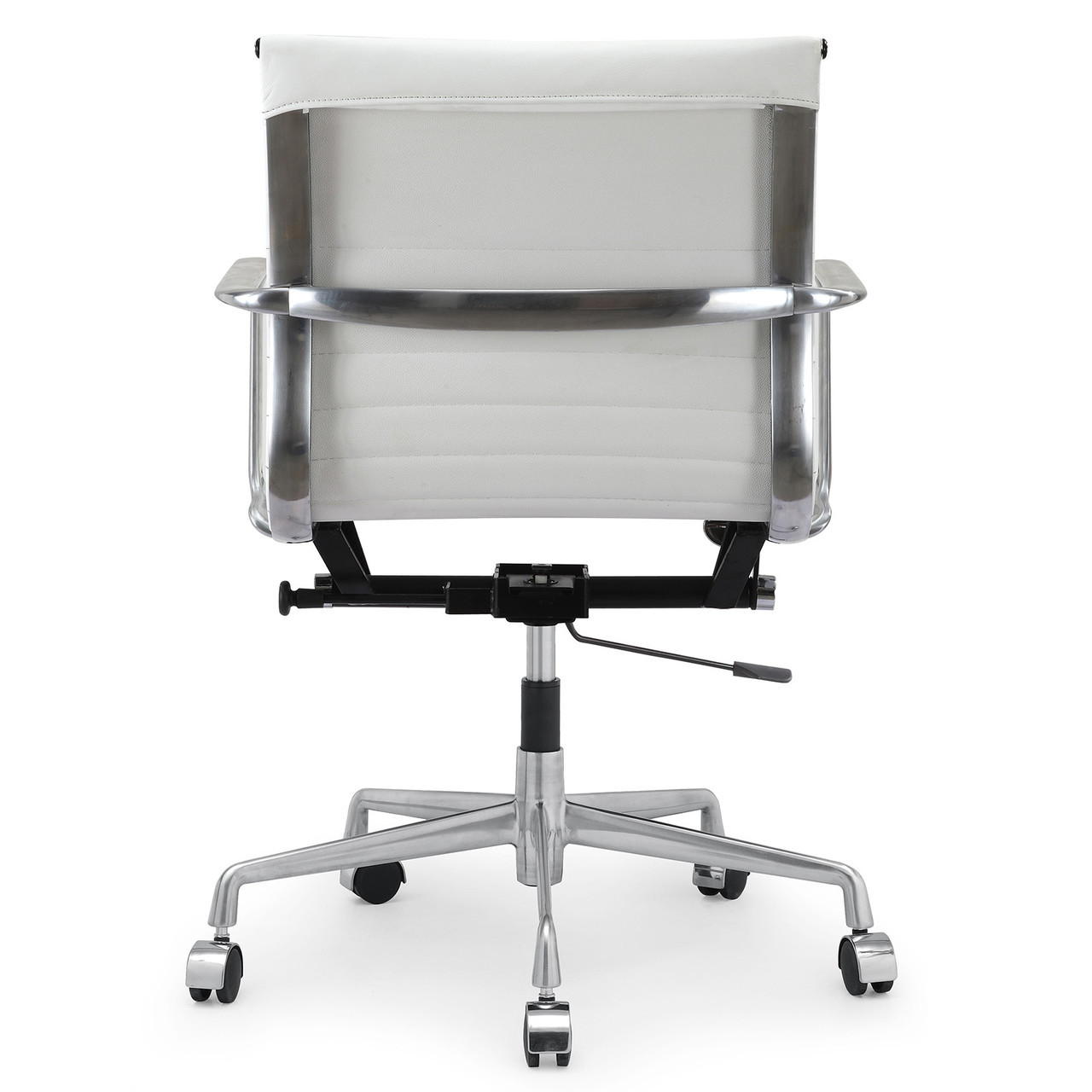 white leather modern office chair black gaming italian m346 chairs zin home