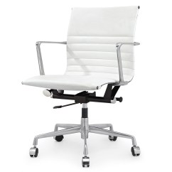 Modern White Office Chairs Klismos Dining Chair Italian Leather M346 Zin Home