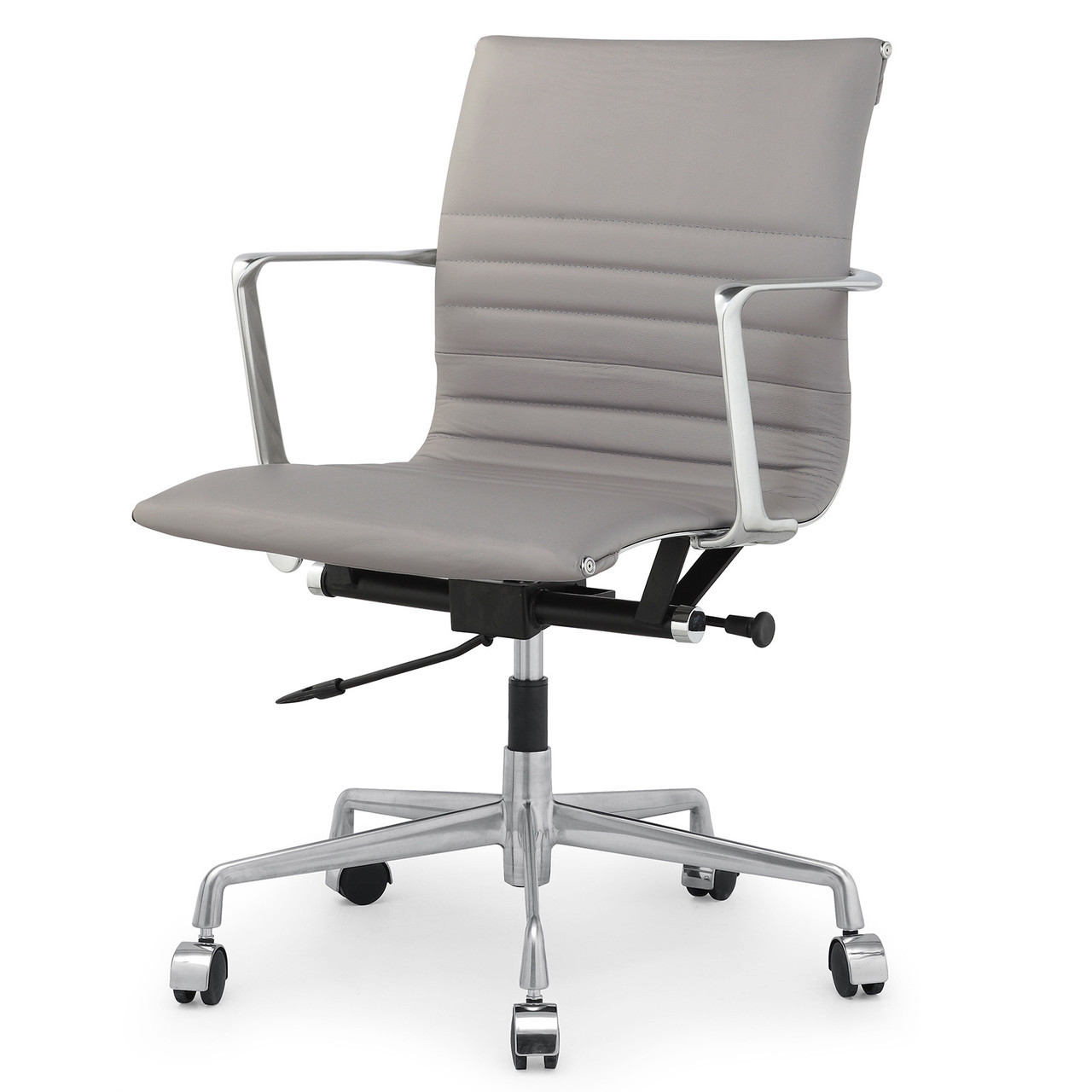 modern grey leather office chair seat covers with elastic italian m346 chairs zin home