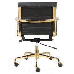 Office Chair Gold Design Victorian Black Italian Leather 43 M346 Modern Chairs