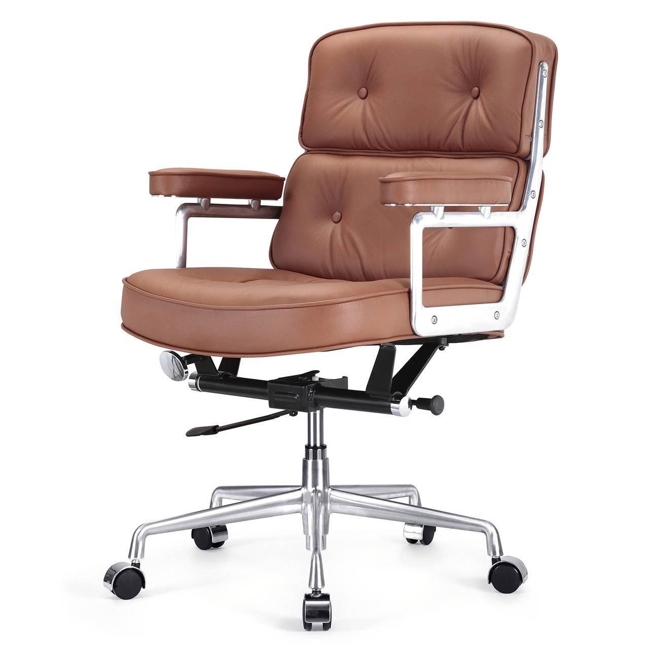 executive brown leather office chairs squirrel feeder chair italian m340 zin home