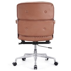 Executive Brown Leather Office Chairs Hand Painted Italian M340 Chair Zin Home