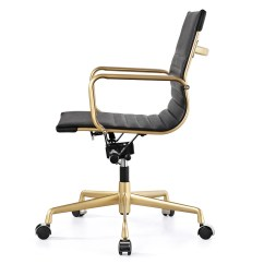 Office Chair Gold Cover Rentals Denver And Black Vegan Leather M348 Modern Chairs