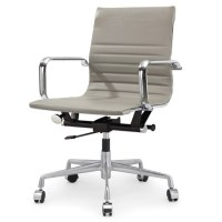 Grey Vegan Leather M348 Modern Office Chairs | Zin Home