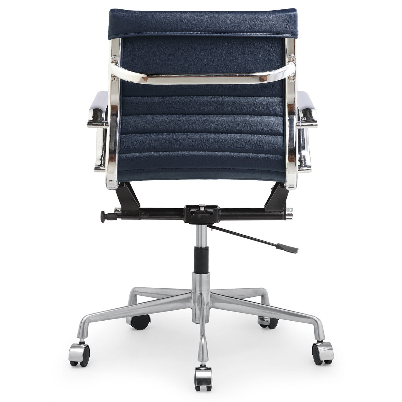 Navy Blue Vegan Leather M348 Modern Office Chairs  Zin Home