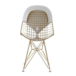 White Wire Chair Cover For Sale Calgary Gold 43 Leather M245 Modern Zin Home